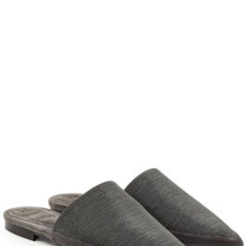 Embellished Slip-Ons with Leather - Brunello Cucinelli | WOMEN | US STYLEBOP.COM