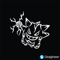 POKEMON GENGAR GAME DECAL STICKER