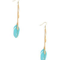 Chain Feather Earrings | FOREVER21 - 1000036444