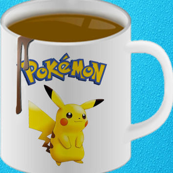 Pokemon Pikachu mug coffee, mug tea, size 8,2 x 9,5 cm heppy coffee.