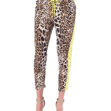 Wild Child Lounge Pants - Yellow Animal Print