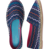 Geo Stripe Espadrille Slip-On Shoe