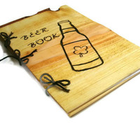 Beer Book Notebook A Tasting Journal Wood by BillsWoodenPleasures
