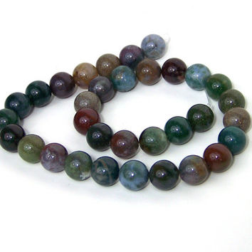 Fancy Jasper beads, 12mm round gemstone, half strand, 562S