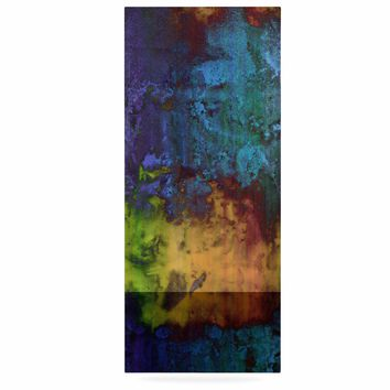 """Nina May """"Rainbow Saltwater"""" Multicolor Painting Luxe Rectangle Panel"""