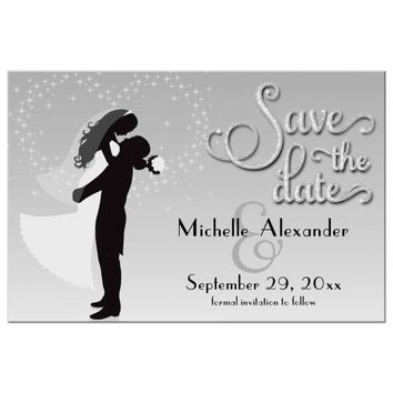 Silver Ombre Save The Date Special Event Post Card