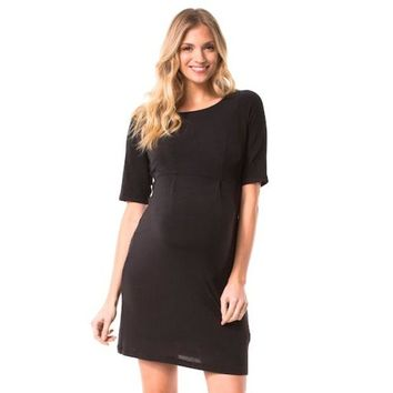 LMFPL3 Maternity Pip & Vine by Rosie Pope Solid Shift Dress