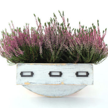 Wall herb planter, Wal hanging Flowerpot, Box for Herbs, Handmade box, Autumn heather, Garden herbs, Herb garden, Wall hanging garden