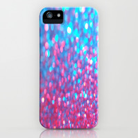 Sky Blue Pink Sparkle Glitter Gradient iPhone & iPod Case by xjen94