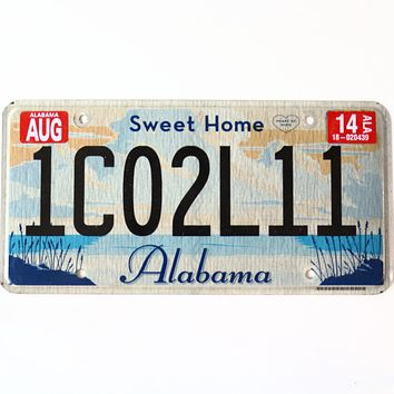 2014 Alabama Sweet Home License Plate 1C02L11