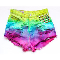 Dyed  Ombre  Shorts by CoraleeMary on Etsy