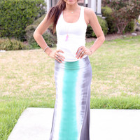 Island in the Sun Maxi Skirt - Mint