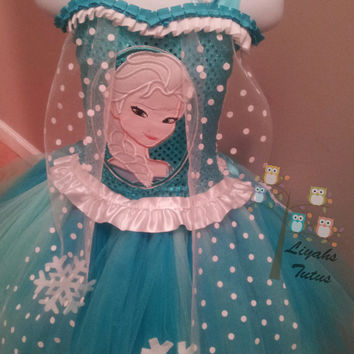 frozen elsa tutu dress,frozen tutu dress,frozen birthday dress,elsa dress,frozen dress,snow sisters,disney inspired elsa,elsa,anna,olaf