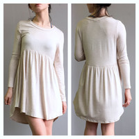 A Babydoll Tunic in Oatmeal