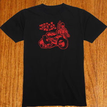 Custom Akira Kanda Bike tshirt Custom Drawn and Designed Shirt T-shirt tee Tshirt