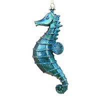 Tropical Seahorse Christmas Ornament