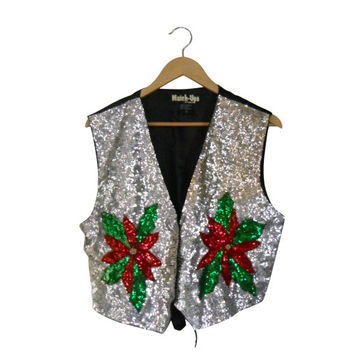 Ugly Christmas Sweater Tacky Christmas Sweater Holiday Sweater Christmas Vest Sequin Christmas Hipster Sweater Hipster Clothes Clothing