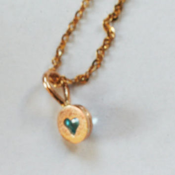 Tiny 14k gold pendant with blue topaz, handmade gold jewelry by Arpelc