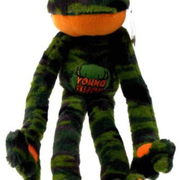 Peace and Love Frog Young Buck Green Camo Soft Plush Hanging Embroidered