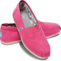 TOMS Earthwise Pink Women's Vegan Classics Slip-on Shoes ,