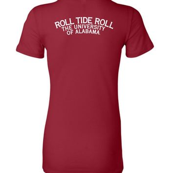 Official NCAA Venley University of Alabama Crimson Tide UA ROLL TIDE! Ladies Favorite Tee - 35AL-5