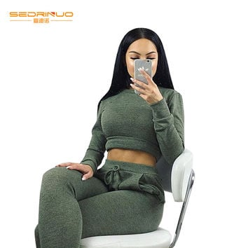 Christmas 2016 Women Winter Elegant Long Jumpsuits Fashion Casual Sexy Army green Full Length Rompers Womens 2 pieces Jumpsuit