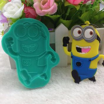 2016 New Despicable Me Minions DIY Silicone Fondant Cake Molds Chocolate Mold Soap Mould Kitchen Baking Tool Silicone Mold FM720