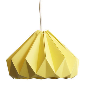 Chestnut paper origami lampshade Autumn Yellow by nellianna