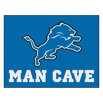 Detroit Lions NFL Man Cave All-Star Floor Mat (34in x 45in)