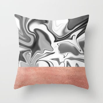 Marbled Sky Throw Pillow by printapix
