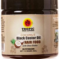 Tropic Isle Living Coconut Jamaican Black Castor Oil Hair Food 4oz