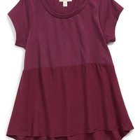 Girl's Tucker + Tate Colorblock High/Low Tee,