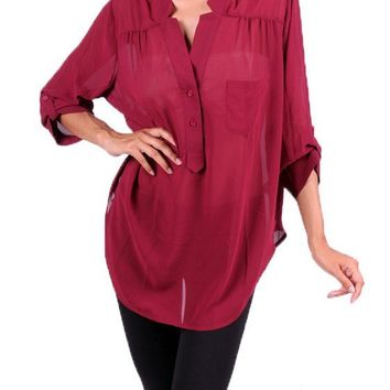 Plus Size Sheer Expectations Top (Sizes 1X-3X)