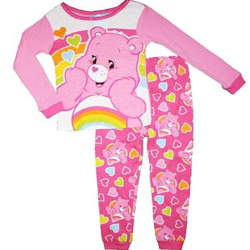 Care Bears Cheer Bear Toddler Girls Cotton Pajama Set (24M)