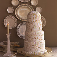 Creamware Wedding Cake - Traditional Wedding Cakes - Wedding Cakes - MarthaStewartWeddings.com
