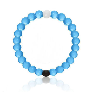 New fashion Camo Pink Blue Transparent Bead Silicone Charm Cuff Bracelet bangle Jewelry For Women Men Pulseras female jewelry