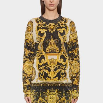 Versace Barocco Print Sweatshirt for Women | US Online Store