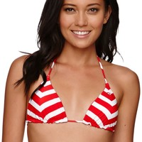 Rip Curl Starry Eyed Reversible Triangle Top - Womens Swimwear - Red