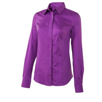 Noble Outfitters Ladies Perfect Fit Western Show Shirt - Grape