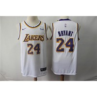Men's Los Angeles Lakers Kobe Bryant Nike White Jerseys - Best Deal Online