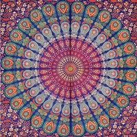 Indian Mandala Tapestry ~ Wall Hanging Tapestries ~Bedspread Beach Towel Yoga Mat 210x148cm White