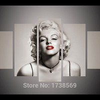 New 5 piece Modern Home Decoration wall decor art picture for living room marilyn monroe canvas Print oil painting canvas art