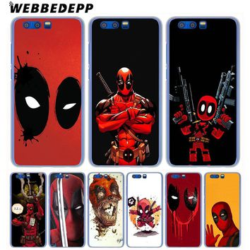 WEBBEDEPP Marvel Deadpool Comic Spiderman Phone Case for Huawei Honor Play 9 8 Lite 10 9i 7X 6A 6C 7A Pro 2GB Note 10 Cover