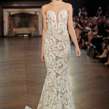 Berta Illusion Lace Mermaid Gown (In Stores Only) | Nordstrom