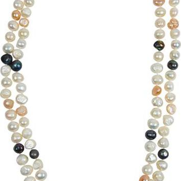 Bret Roberts Genuine 47 Inch Baroque Pearl Necklace