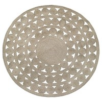 Round Outdoor Rug - Ornate Natural Woven - Threshold™