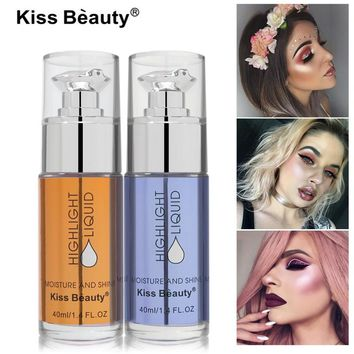 Kiss Beauty Brand Highlighters Make Up Long Lasting Pigmented White Pink Gold Brighten Face Contour Liquid Highlighter Makeup