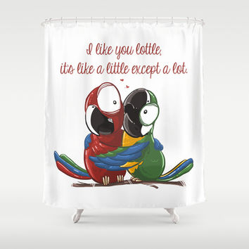Like Lottle Macaws Parrots Shower Curtain by Lottle