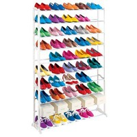 50-pr. Shoe Rack - White