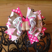 USMC Leopard and Desert Digital my daddy wears combat boots hair bow